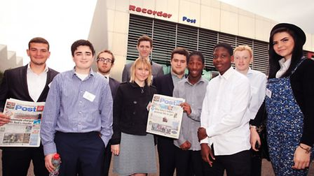 The Create Your Future students, of Barking & Dagenham College, visit the Post's office in Ilford.