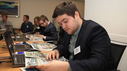 The Create Your Future students, of Barking & Dagenham College, visit Archant office in Ilford.