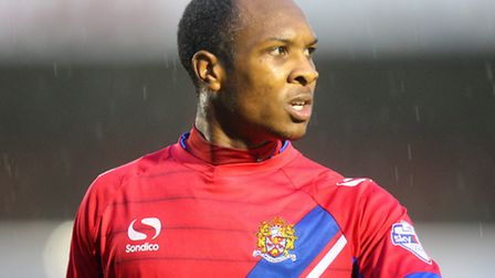 Daggers defender Gavin Hoyte looks set to leave the club at the end of the month. Pic: Dave Simpson/