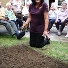Lorna Lawrence of Sainsburys creates a sensory garden at Chadwell House Residential Home