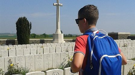The visit was part of a Government initiative for schoolchildren to visit the battlefields