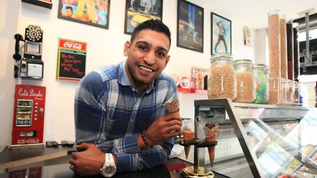 Boxer Amir's strict training regime means he has to watch what he eats