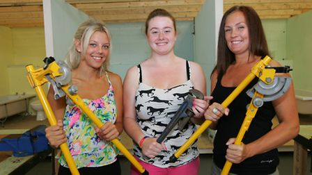 Kayleigh Walby, Georgia-Rose Cuthbert and Sally King were awarded plumbing scholarships.