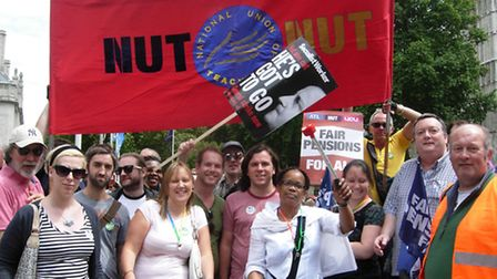 Teachers from Barking and Dagenham during a strike in 2011
