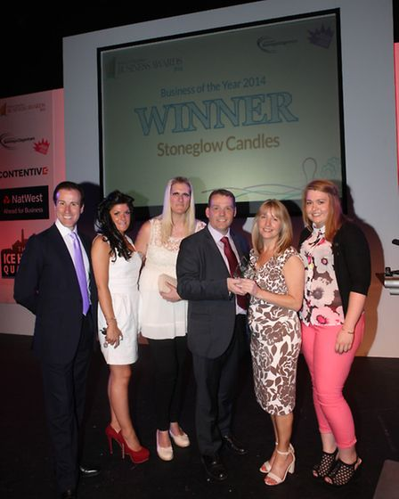 Stoneglow Candles were named Business of the Year at the Barking and Dagenham Business Awards 2014.