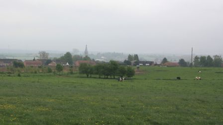 This picture is from the forward edge of 37 Battery's position at Le Cateau, where the battle took p
