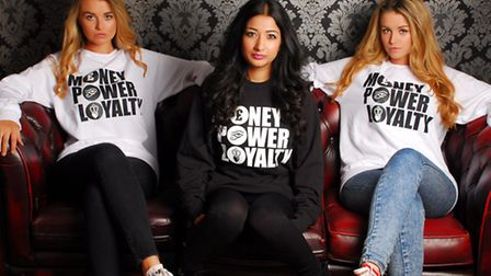 An example of Channon's Money Power Loyalty clothing line