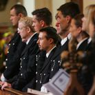 Police officers at the Barking Abbey service (pictures: Steve Poston)