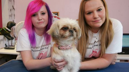 Carla Garey and Kirsty Leeder with Izzy
