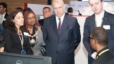 HRH The Duke of York meeting students, at the launching of iCreate@BDC, Barking & Dagenham Colleges