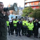 Trade union members protest outside Barking Town Hall