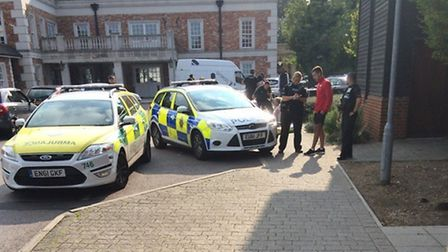 Police search the scene in September after a 36-year-old man was shot in Chigwell. Photo: Alex Rose