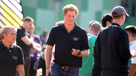Prince Harry visited Barking Sporthouse as part of the Invictus Games training