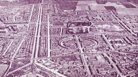 An old aerial view of Dagenham