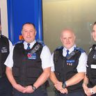 Pc Leanne Crowdy and PCSOs Terry Curry and Gary Stow of Abbey Ward Safer Neighbourhoods Team with a