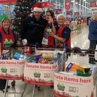 The food collection at Tesco in Barking