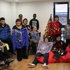 Barking & Dagenham College students with their Christmas jumpers getting ready for the �Make the Wor