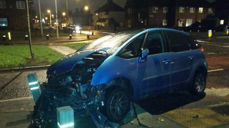 A 18-year-old man was rushed to hospital following the crash