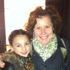 Elise Blake (left) backstage with actress Imelda Staunton at the Chichester Festival Theatre
