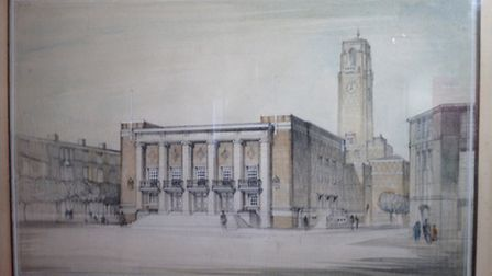 Original design of the assembly hall that became the Broadway theatre