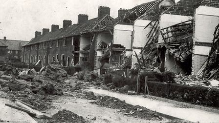 Bomb damage in Dagenham (Pic: LBBD archives and local studies centre)