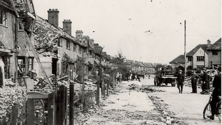 Bomb damage in Oval Road, Dagenham (Pic: LBBD archives and local studies centre)