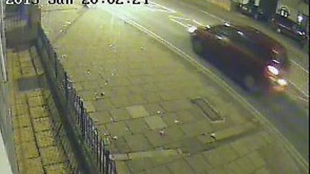 Detectives want to speak to the driver of this red/burgundy MPV type vehicle