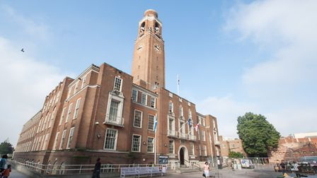 The rent increase was agreed at Barking town hall last night (photo: Arnaud Stephenson)
