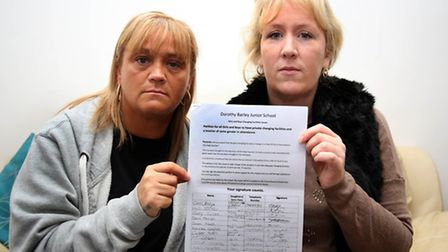 Sarah Crossley (right) and her friend, Carol Jerzyk, who have signed a petition for children at Doro