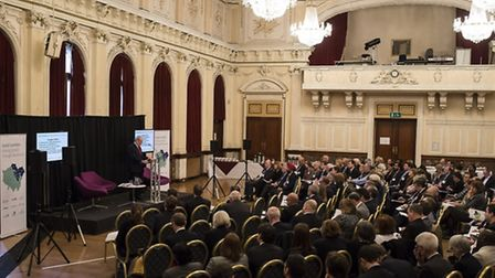 Last month's devolution conference at Old Town Hall, Stratford