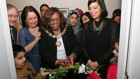 Mayor Cllr Elizabeth Kangethe, in middle with chain, officially opens The Bath House