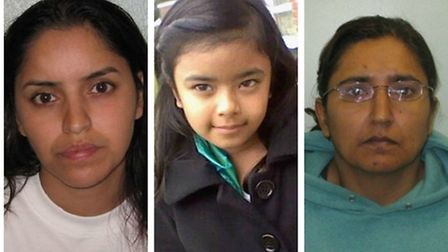 Polly Chowdhury, left, and Kiki Muddar, right, have been convicted of the manslaughter of Chowdhury'