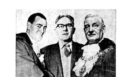 Up until April 1 1965, Cllr Joe Butler (left) and Alderman Fred Brown (right) were the last mayors t