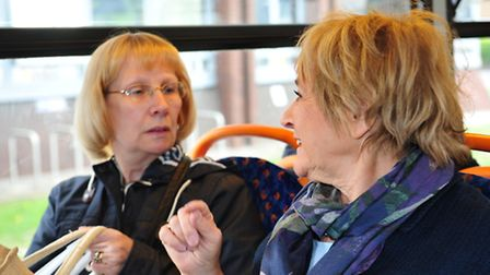 Margaret Hodge chats to Barking resident Carol Downes