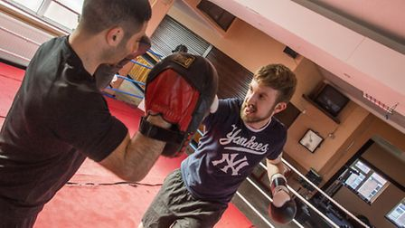 Mark Shales gives boxing a go for our Get Active campaign