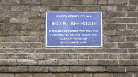 The first house built on the Becontree estate is in Chittys Lane.
