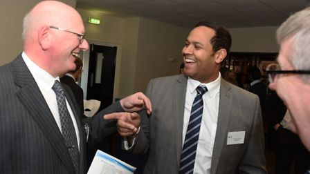 BDP Business Awards 2015 launch at the Barking and Dagenham FC with Lloyd Johnson (centre)