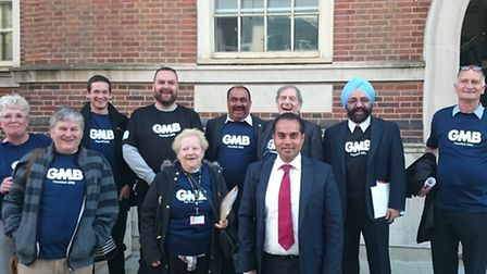 A number of councillors wore GMB shirts at the meeting