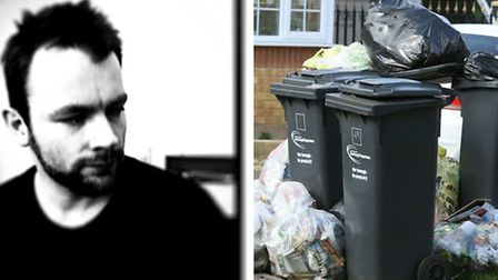 Martin Blake is angry at the council's handling of the bin strikes