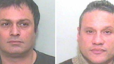 James Chrysostomo (left) and Andrew Pritchard (right) were arrested on the A13 with 6kg of cocaine.