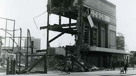 The demolition of the Odeon cinema in 1966