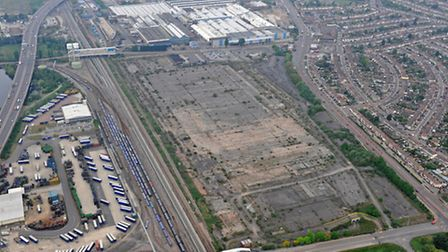 An aerial view of the proposed Beam Park site