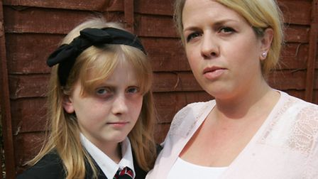 Epileptic pupil Rosie Harrison, 12, with her mum Kate Harrison.