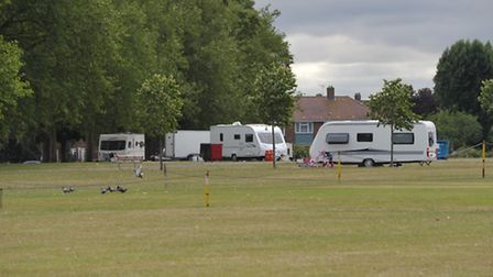 Travellers in Maysbrook park