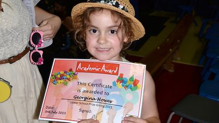 Georgina Howes with her certificate