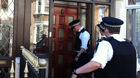 Police officers target a second property in Chadwell Heath this morning