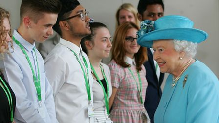 The Queen visits Sydney Russell School