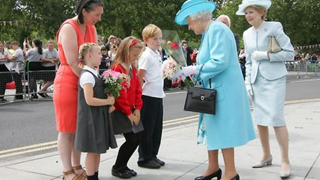 The Queen on her visit to Abbey Leisure Centre in Barking