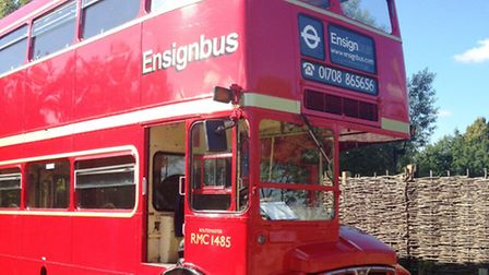 The vintage Routemaster which took residents on a tour of some of Discover Me's historical attractio