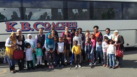 Northbury Primary School pupils during their trip to France